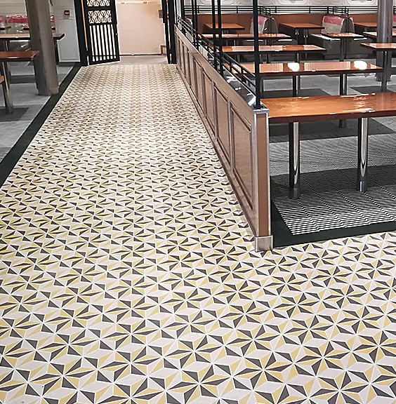 Installation of various types of floor coverings